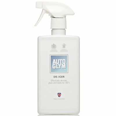 4 x Autoglym De Icer 500ml Super Concentrated Formula -Ideal For Windows/Mirrors