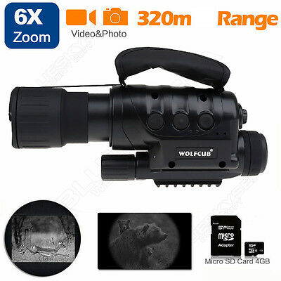 650D+ Night Vision Goggles Monocular IR Surveillance Camera Cam for Rifle Scope