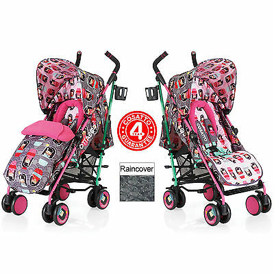 New Cosatto Supa Pushchair Stroller Kokeshi Smile Buggy & Raincover From Birth
