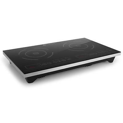 Klarstein Xl Double Induction Cooktop Hot Plate 3100W Timer Touch Black Cookware