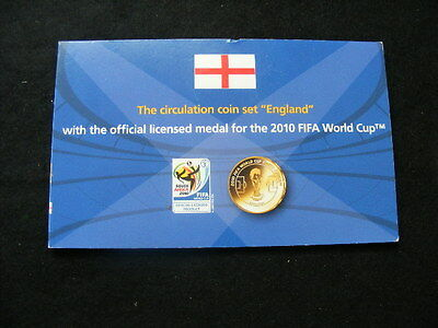 England 2008 UNC coin set + 2010 FIFA Football World Cup Official Licensed medal