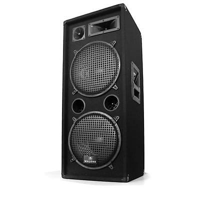 "DISCO KARAOKE PARTY SPEAKER 2 x 12"" PA SPEAKERS 1000W DJ LOUDSPEAKERS CLUB HOUSE"