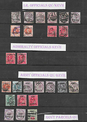 Great Britain Victoria Officials, some KE7 x 25 stamps used