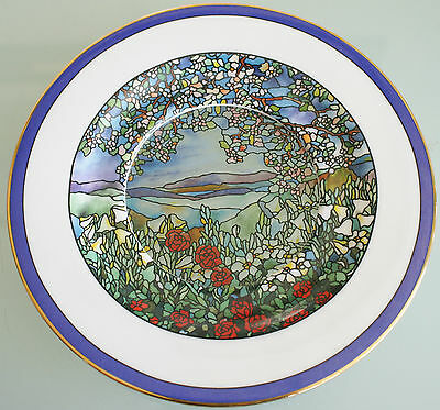Springtime in the Valley Stained Glass Gardens Plate Hamilton Collection (19cm)