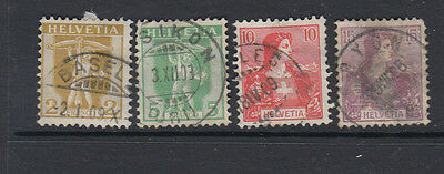 Four very nice old Swiss 1907 Issues
