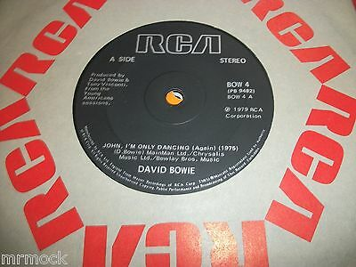 "DAVID BOWIE- JOHN I'M ONLY DANCING VINYL 7"" 45RPM co"