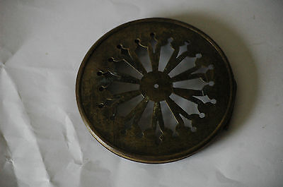 Antique Clock Hinged Brass Cover.11 Cms Diam.