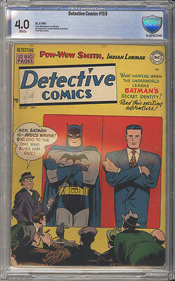 Detective Comics # 159  Batman's Secret !  CBCS 4.0 scarce Golden Age book !