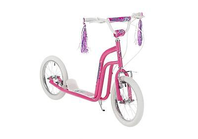 "Concept Princess Girls 16"" Pneumatic Wheel BMX Style Push Kick Scooter Pink CN96"