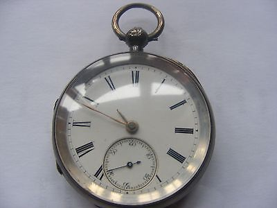 Antique Silver Fusee Lever Key Wind Pocket Watch
