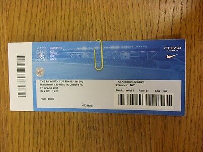 22/04/2016 Ticket: FA Youth Cup Final: Manchester City Youth v Chelsea Youth  (f