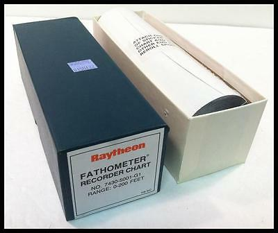 Raytheon 7430-5001-G1 Fathometer Recorder Chart Thermal Paper Range: 0-200 Feet