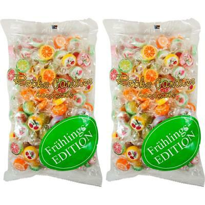 Sweet Stories Rocks Candies Mix Bunt 500g im Beutel Lutsch-Bonbons (2er Pack)