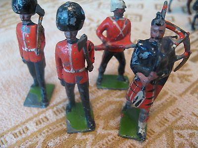lead soldiers.10 vintage lead.toy soldiers.cavalry on horses.guardsmen scotsman