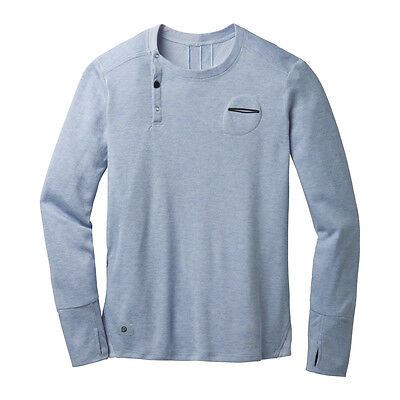Brooks Men's PureProject Henley LS - Storm, Med. - 55% Off, Free US Ship