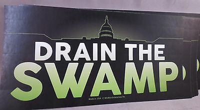 WHOLESALE LOT OF 20 DRAIN THE SWAMP STICKERS TRUMP PRESIDENT MONEY Capitol USA