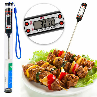 Digital Probe Timer Meat Cooking Thermometer for BBQ/ Smoker/ Food/ Kitchen