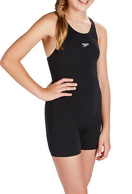 Speedo  Girls Swimsuit/swimming Costume.new Endurance+ Black Legsuit 7S/40001