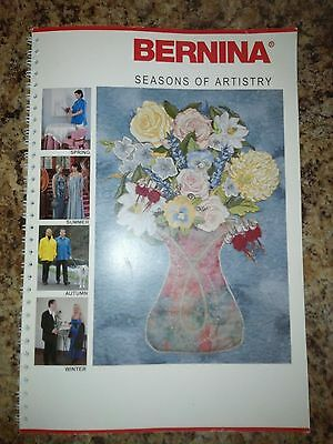 Bernina Seasons Of Artistry Project Book- Spiral Bound
