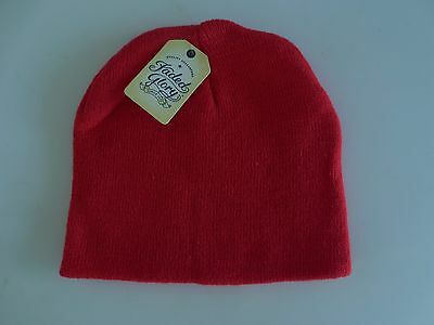 NEW Boy Girl Kids One Size 3T/4T  FADED GLORY Knit Beanie Hat Red NWT