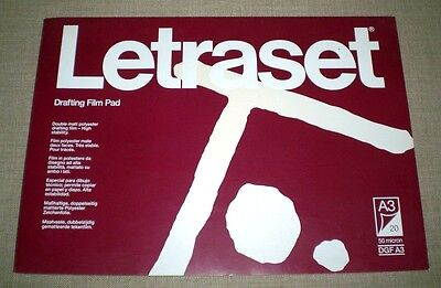 Letraset Block Drafting Film Pad A3/50 micron - 20 Bogen im Block