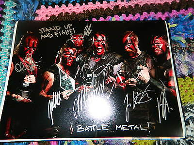 Turisas Signed 16 X 12 Photo Battle Metal Stand Up And Fight Rasputin With Coa