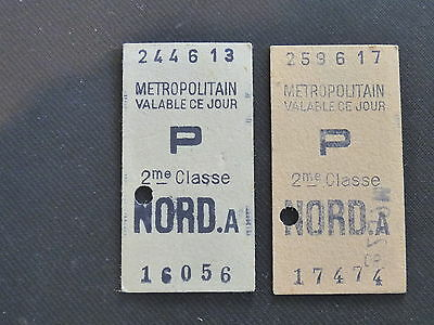 "2 Tickets   Metropolitain   Nord A   "" P """