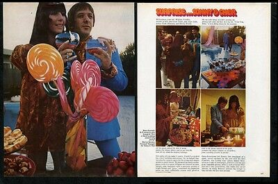 1967 Sonny and Cher 5 photo 3rd anniversary party recipes print article