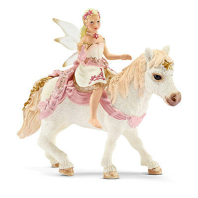 Schleich 70501 Delicate Lily Elf, Riding A Pony (Bayala) Plastic Figure