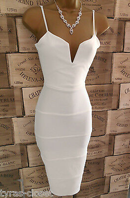 Sexy Cream Bodycon Bandage Holiday Cocktail Party  Dress Size 12