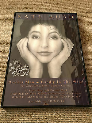 Kate Bush - Stunning HAND SIGNED and framed Rocket Man promo poster