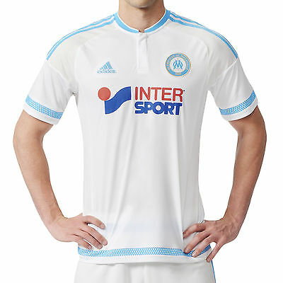 adidas Performance Mens Olympique Marseille Football 15/16 Home Jersey Shirt Top