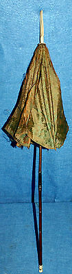 Antique 19th Century Victorian Era Parasol with Carved Bone or Ivor* Top