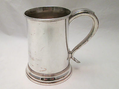 A Fine Old Sheffield Plated Tankard - c1800