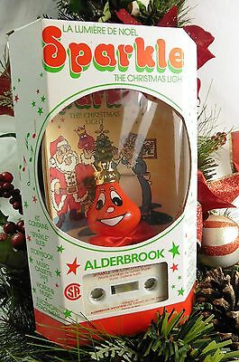 SPARKLE the Christmas Light RED face BULB Cassette Music FREE CANADA SHIPPING