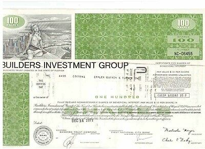 Lot: 10 Builders investment Group