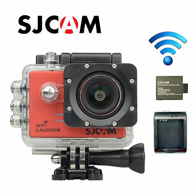 Original SJCAM SJ5000X 4K Elite Sensor WiFi Action Camera+2 Battery+Charger