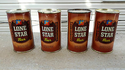 group of 9 Brown Lone Star Beer Cans