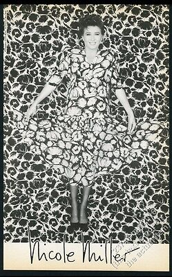 1986 Nicole Miller flower dress fashion photo BIG vintage print ad