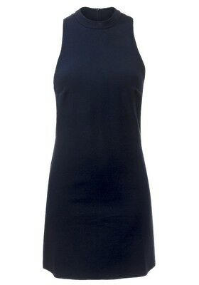 New Topshop Women ladies ribbed navy party shift mini dress size 8
