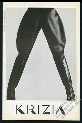 1984 Giovanni Gastel photo Krizia women's jodhpurs fashion vintage print ad