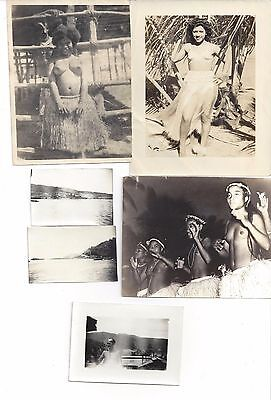 6 Rare Photos W.W. II Dutch East Indies, 3 of Indigenous People w/ Censor stamps