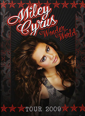 Miley Cyrus 2009 Original Wonder World Tour Program