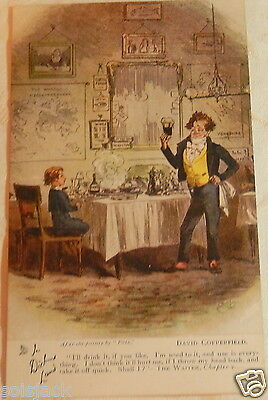 Antique  Postcard  - In Dickens Land - David Copperfield Chapter V Tuck 6047