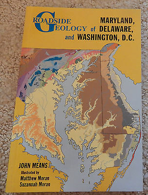 """""""Roadside Geology of Maryland, Delaware, and Washington, D.C."""" Book - New"""