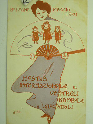 Exposition-Mostra-Toys-Bologna 1901-Artist Signed Bompard-Fold-V3A-S55884