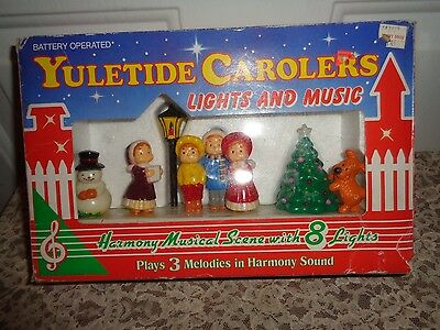 Yuletide Carolers Musical Lighted Battery Operated