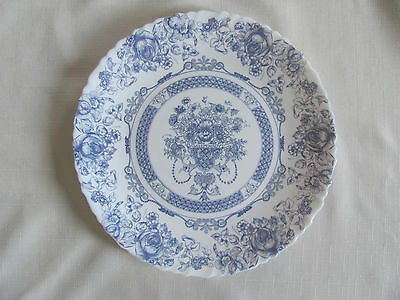Arcopal France Honorine Blue Floral Swirl Rims - Dinner Plate(s) -Up to 10 Avail