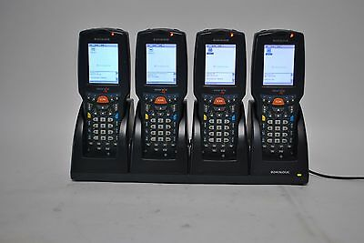 Set of 4 Datalogic DL-SKORPIO-G Mobile Barcode Scanner with Charger & Adapter