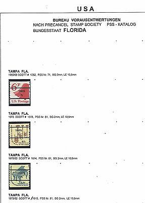 USA mint pre cancels florida